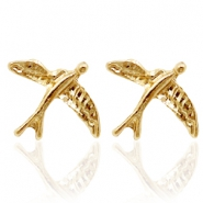 Trendy oorbellen studs bird Gold