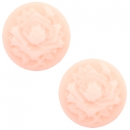 Cabochon basic camee 20mm roos Light pink-off white