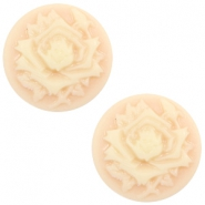 Cabochon basic camee 20mm roos Light peach-beige