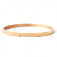 "Roestvrij stalen (RVS) Stainless steel armbanden ""YOU ARE ONE IN A MILLION"" Rosé goud"