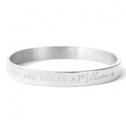 "Roestvrij stalen (RVS) Stainless steel armbanden ""YOU ARE ONE IN A MILLION"" Zilver"