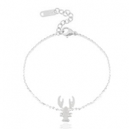 Roestvrij stalen (RVS) Stainless steel armbanden lobster Silver