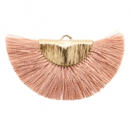 Kwastjes hanger Gold-terracotta rose