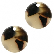 Resin hangers rond 12mm Creme-black