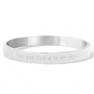 "Roestvrij stalen (RVS) Stainless steel armbanden ""YOU ARE MY STAR IN THE SKY"" Silver"
