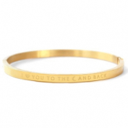 "Roestvrij stalen (RVS) Stainless steel armbanden ""I LOVE YOU TO THE MOON AND BACK"" Gold"
