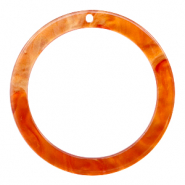 Resin hangers rond 35mm Flame orange