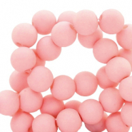 8 mm acryl kralen matt Salmon pink
