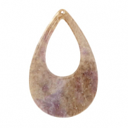 Resin hangers druppel 57x36mm Suger almond taupe