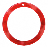 Resin hangers rond 35mm Chilli red