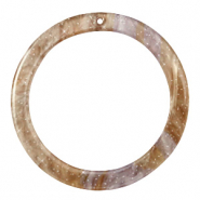 Resin hangers rond 35mm Suger almond taupe