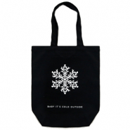 "Fashion tas canvas ""baby it's cold outside"" Black"