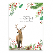 "Sieraden kaartjes ""the most wonderful time of the year"" White-brown"