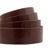 Plat 20 mm DQ leer Rocky road brown