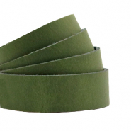 Plat 20 mm DQ leer Soft guacamole green