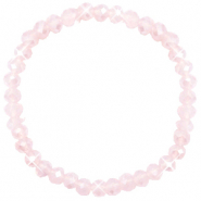 Top facet armbandjes 6x4mm Peach pink opal-pearl shine coating