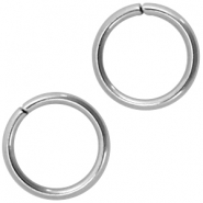 Roestvrij stalen (RVS) buigring stainless steel 6mm Zilver (RVS)
