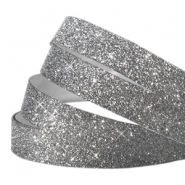 Crystal glitter tape 5mm Antraciet