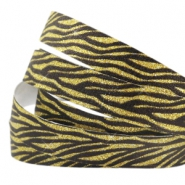 Crystal glitter tape animal print 10mm Black-gold