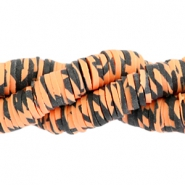 Katsuki kralen animal print 3mm Orange-black