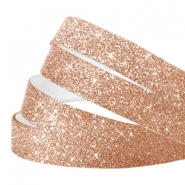 Crystal glitter tape 10mm Champagne rose gold